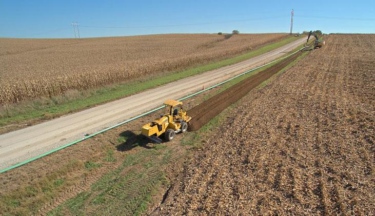 A 3.5-mile steel pipeline is being constructed in Sarpy County.
