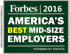Forbes 2016 America's Best Mid-Size Employers